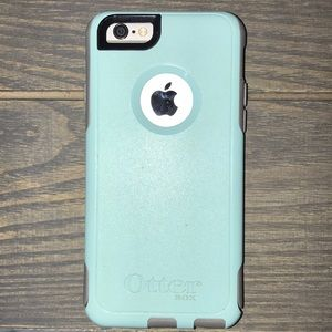 Custom Turquoise and Gray Otterbox